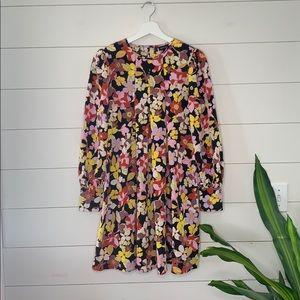 who what wear bohemian garden mini dress Sz S